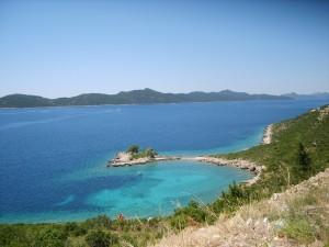 Eaux turquoises, Presqu'ile à Trsteno, en Croatie